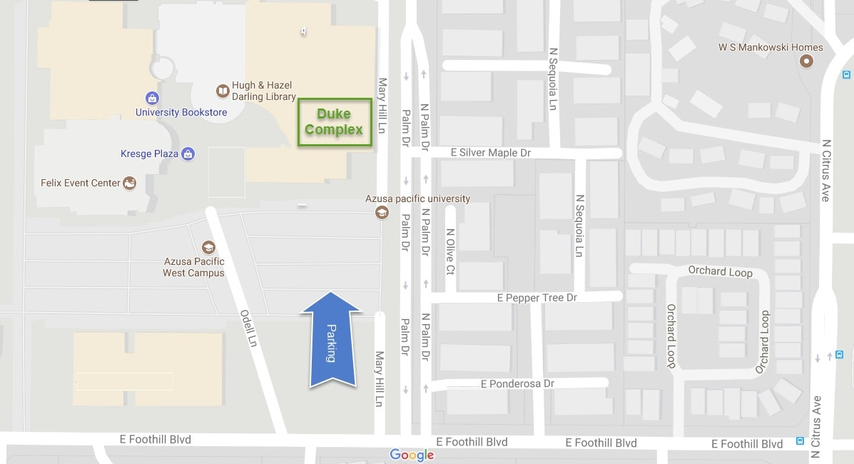 Directions And Parking Southern California Big Data Discovery - Duke west campus map