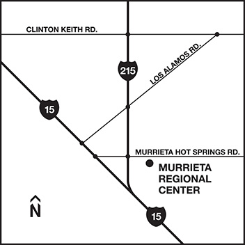 Map to Murrieta Regional Center